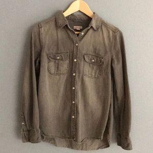 Grey Denim Button Down Shirt